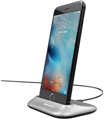 Baseus Little Volcano Charging Dock Station + Cable For iPhone 8 8 Plus - Silver