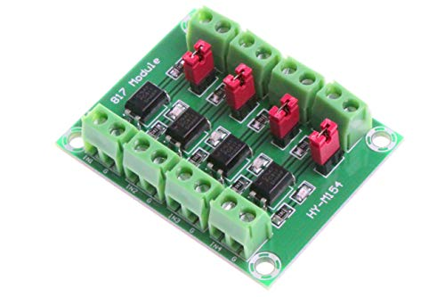 NOYITO PC817 4-Channel Optocoupler Isolation Board Voltage Converter Adapter Module 3.6-30V Driver Photoelectric Isolated Module