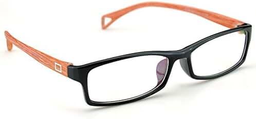 PenSee Fashion Horned Rim Rectangular Eye Glasses Frames Clear Lens