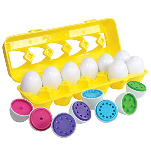 Kidzlane Color Matching Egg Set - Toddler Toys - Educational Color & Number Recognition Skills Learning Toy - Easter Eggs ()