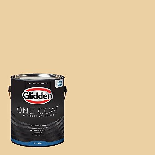 Glidden Interior Paint + Primer: Beige/Spice is Nice, One Coat, Semi-Gloss, 1-Gallon