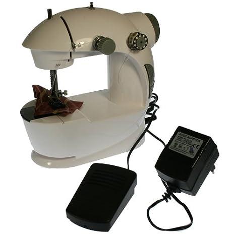 Mini-Máquina de coser portátil -Dos velocidades, doble rosca y accesorios. HY-201: Amazon.es: Hogar