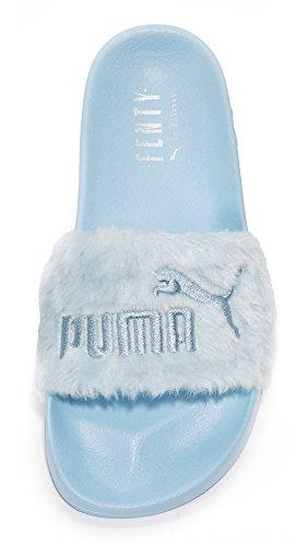 Cool Silver x PUMA Puma Fur Blue Faux Slides Fenty Women's vqqYg
