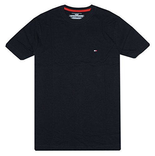 Tommy Hilfiger Men's Classic Fit T-Shirt (XL, Black)