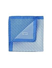 SCAPPINO Pañuelo con Estampados Geométricos Azul Claro