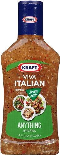 Kraft Viva Italian Seven Seas Anything Dressing (16 oz Bottles, Pack of 6)