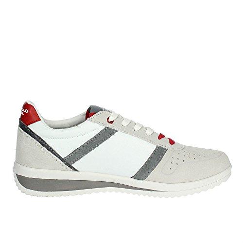 US18UP01 Uomo Scamosciata Gray US Pelle U Tessuto Sneaker Polo POLO S White ASSN Tommy Scarpe Running Bianco qPUIZw