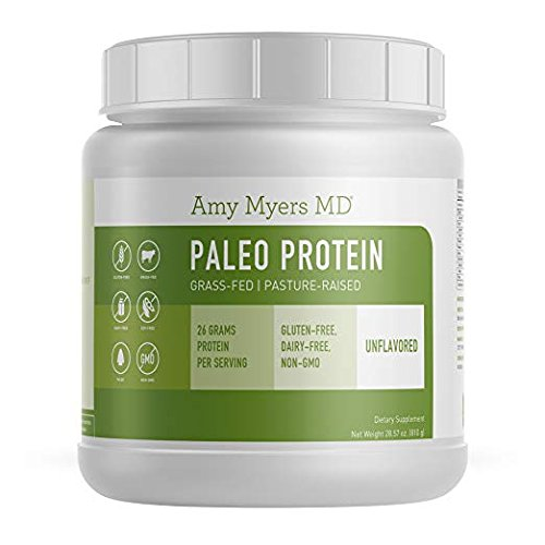 Cheap Unflavored Pure Paleo Protein by Dr. Amy Myers – Clean Grass Fed, Pasture Raised Hormone Free HyrdoBEEF Protein, Non-GMO, Gluten & Dairy Free – 26g Protein Per Serving – Plain Shake for Paleo and Keto