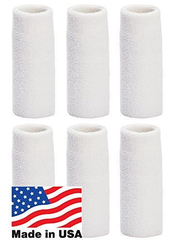 Unique Sports Wrist Towel 6 Pack - 6 inch Long Wristband