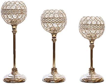 QIQIDEDIAN キャンドルホルダー装飾テーブル装飾クリスタルクリエイティブヨーロッパキャンドルライトディナーの小道具ロマン