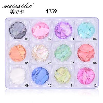 - Kamas How sale 12 color/Sets 3d Charm Crushed Shell Fragment Stone Powder for False Acrylic UV Gel DIY Flake Nail Art Decorations Set - (Color: 12 Box set)