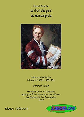Le droit des gens (French Edition)