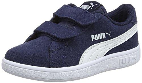 Puma Smash V2 SD V PS, Zapatillas Unisex Niños Azul (Peacoat-puma White)