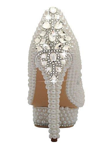 ShangYi Scarpe da sposa - Scarpe col tacco - Tacchi / Plateau / Chiusa - Matrimonio / Formale / Serata e festa - Bianco - Da donna , 5in & over-white