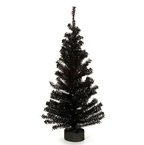 Canadian Pine Tree with Wood Look Base - 148 Tips - Black - 24 inches (3 pack) by RetailSource