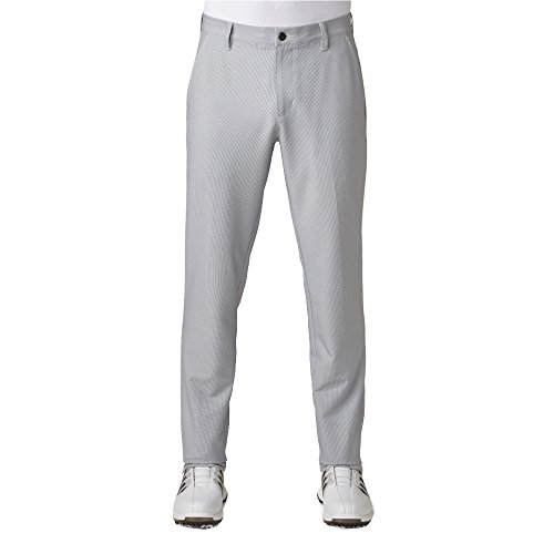 adidas Golf Men's Golf Adi Ultimate Tonal Stripe Pants, Mid Grey, Size -