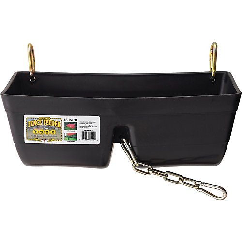 Little Giant Fence Feeder with Clips and Chain, 16-Inch, Black by LITTLE GIANT