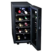 Koolatron KWT10B 10 Bottle Digital Temperature Control Wine Cellar, Black