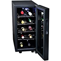 Koolatron KWT10B 10-Bottle Digital Temperature Control Wine Cellar, Black