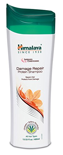 Himalaya Damage Repair Protein Shampoo with Chickpea and Almond for Dry, Frizzy and Damaged Hair, 13.53 oz, 400 ml (2 Pack)