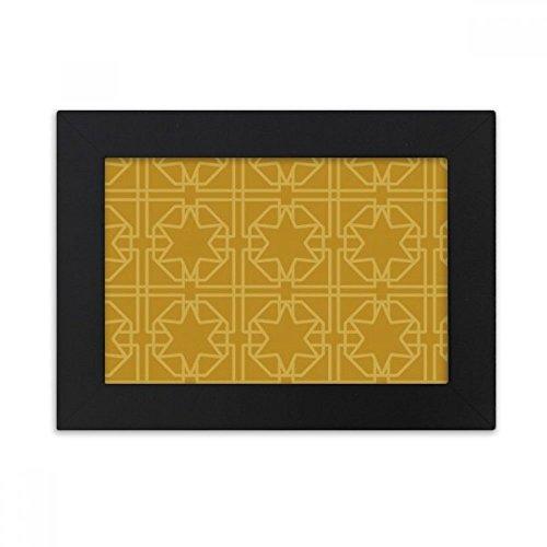 DIYthinker Thailand Golden Weaving Decorative Pattern Desktop Photo Frame Black Picture Art Painting 5x7 inch by DIYthinker