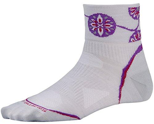 Smartwool Womens PhD Cycle Ultra Light Mini Socks (Silver/Berry) Small - Past Season -