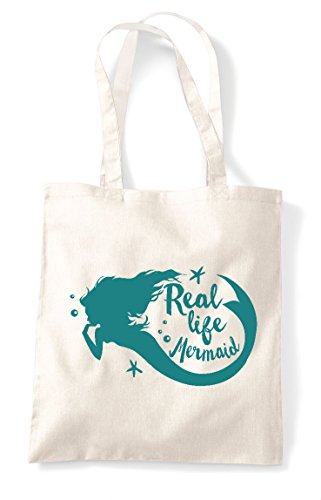 Shopper Natural Tote Life Bag Statement Real Mermaid qvtYvX