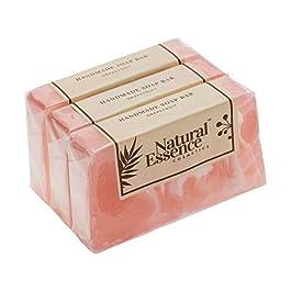 Handmade Natural Organic Grapefruit Soap Bar Bulk All Natural Soap Gift Set for Women Men Fruit Scented Soap 3 Pack Gift…