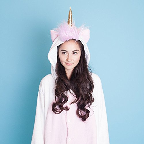 Amazon.com: SMOKO Unicorn Magicorn Onesie Plush Single Piece Cosplay Costume: Clothing