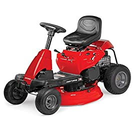 Craftsman R105 382cc Single Engine Series 30-Inch Gas Powered Riding Lawn Mower 84 POWERFUL 382CC GAS ENGINE: Powerful gas engine suitable for larger yard jobs. 6 DIFFERENT SPEED OPTIONS: Rider can choose up to 6 different transmission speeds that suits their needs. 30-INCH CUTTING DECK: Wide 30-Inch cutting deck clips grass in one quick sweep.