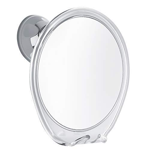 Fogless Shower Mirror with Razor Hook for A Perfect No Fog Shaving, 360 Degree Rotating for Easy Mirrors Viewing, Strong Power Lock Suction Cup Will Not Fall, Ideal for Home and Traveling.