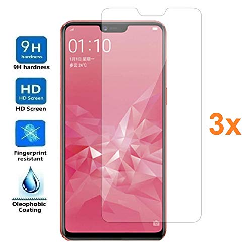 3X Screen Protector for Oppo A5 - Oppo A3S, Tempered Glass Film, Premium Quality, Perfect Protection for Scratches, Breaks, Moisture, [Pack 3X]