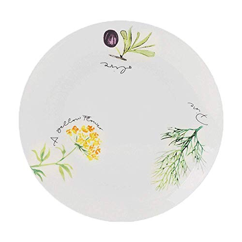 (Grape Creative Round Ceramic Plate Cute Fruit Pattern Cartoon White Tray Steak Soup Bread Dish Cake Dessert Fruit Sushi Snack Noodle Candy Plate Smooth Surface Gift Friend Kid Family Chef)