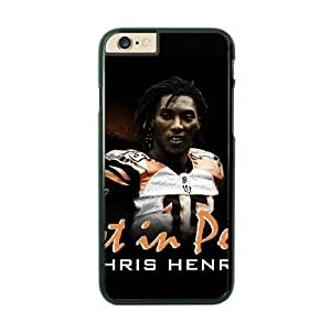 NFL iPhone 6 Black Cell Phone Case Cincinnati Bengals QNXTWKHE2340 NFL Phone Case Cover DIY Design