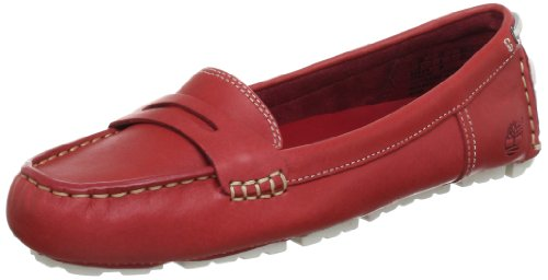 Rot red Low De ek Vamp Mocasines Cuero Mujer On Slip Ftw Rojo Timberland Neponset qTAawBO7