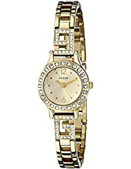 GUESS Womens U0411L2 Iconic Gold-Tone Jewelry Inspired Watch with Self-Adjsutable Bracelet