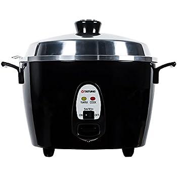 Tatung TAC-10GS-BL 10 Cup Multi-Functional Aluminum Rice Cooker, Black