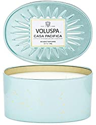 Voluspa Casa Pacifica 2 Wick Candle In Decor Oval Tin 12.7 oz