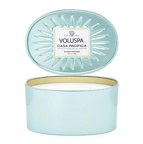 Voluspa 068372 2 Wick Candle in Decor Oval Tin