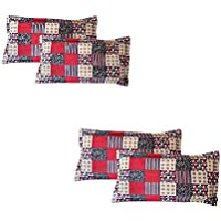 ZCI Pack of_4_Multi-Color Pillow Covers Pollycotton_110TC_Model No_ZCI4028
