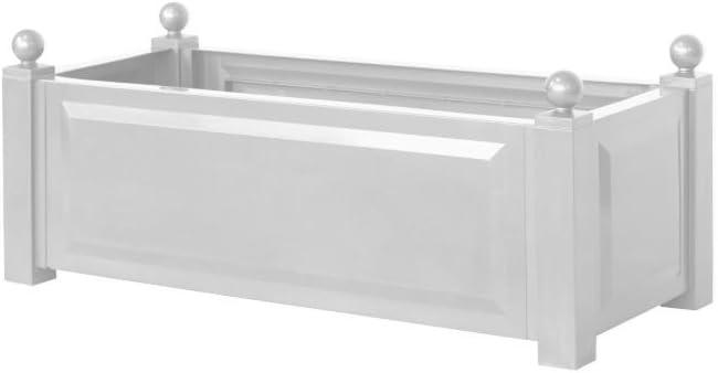 43 cm lang wei/ß 43 cm breit 40 hoch KHW 11222 Pflanzkasten quadratisch