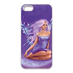 iPhone 4 4s Cell Phone Case White Lavender Moon Fairy VIU150922