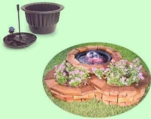Henta pond in pot complete indoor outdoor for Garden pond amazon