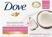 DOVE Jabon Leche De Coco 4PACK DE 100g cada barra