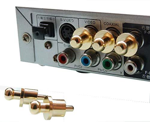 8 Unidades, protecci/ón contra la corrosi/ón Tapones para Conectores RCA emi RCA 4pcs