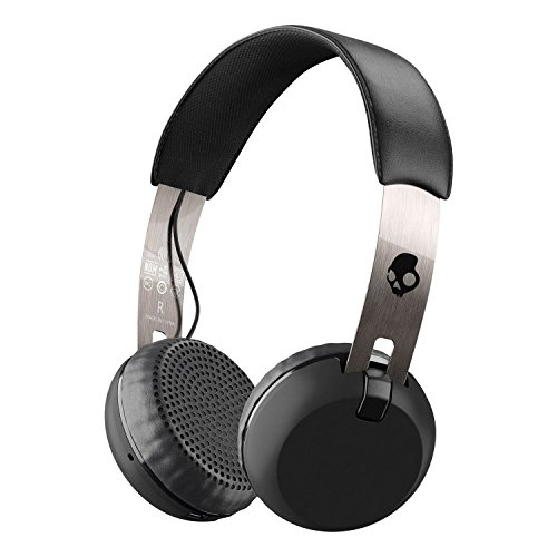 Skullcandy Grind Bluetooth Wireless On-Ear Headphones with Built-In Mic and Remote, 12-Hour Rechargeable Battery…