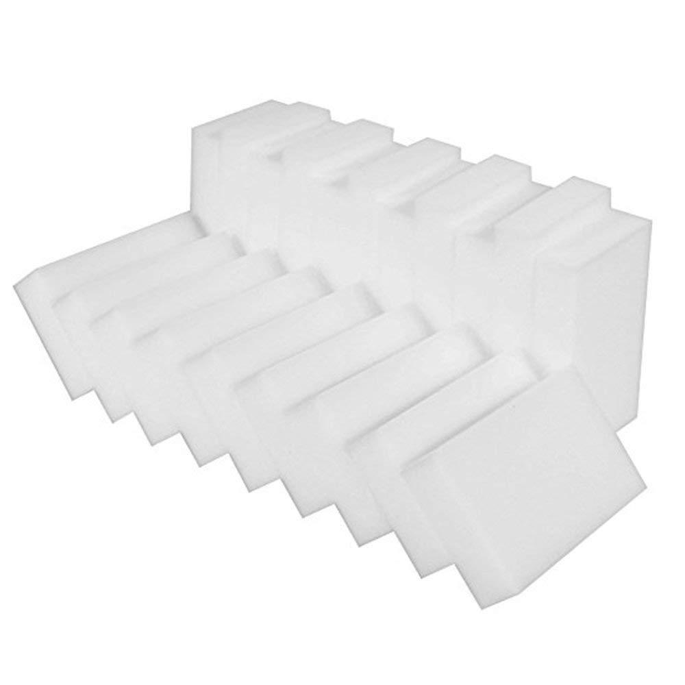 Pulison Sponge Eraser Pad for Home Kitchen 100Pcs White Magic Sponge Eraser Cleaning Melamine Foam Cleaner Kitchen Pad