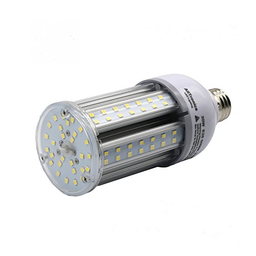 Orlich 20w E26 Led Corn Light Bulb - 2100 High Lumen,Replace CFL 100w or HID Bulb 70w,5000k White, Ac100-277v,Used in Outdoor and Indoor Wall Light,Bollard,Garden Light/Backyard ()