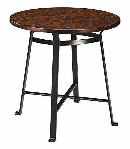 Ashley Furniture Signature Design - Challiman Dining Room Bar Table - Pub Height - Round - Rustic Brown (Rustic Dining Room Furniture Sets)