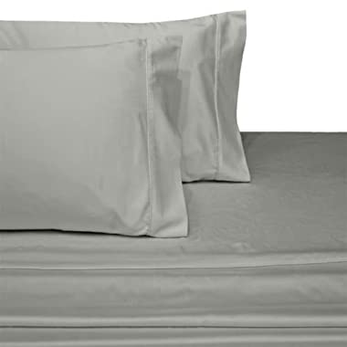 Ultra Soft & Exquisitely Smooth Genuine 100% Egyptian Cotton 800 Thread Count Sheet Sets, Lavish Sateen Solid, Deep Pockets (18  Pockets), 4 Piece Queen Size Sheet Set, Solid, Gray